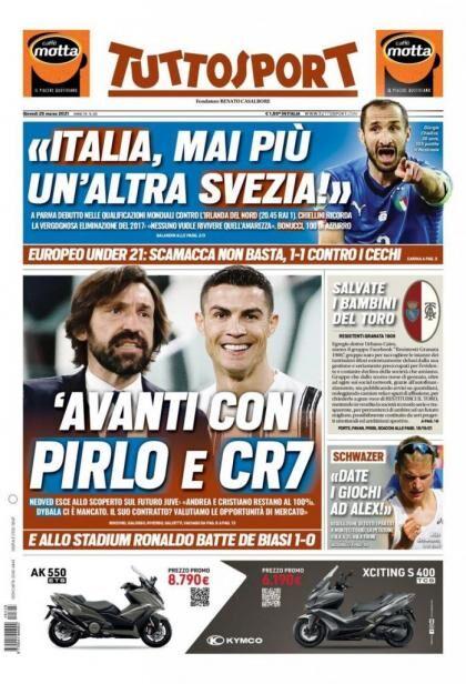 روزنامه توتو| رو به جلو با پیرلو و CR7
