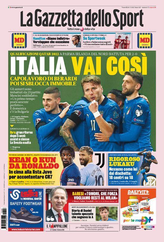روزنامه گاتزتا| ایتالیا، مثل همین ادامه بده