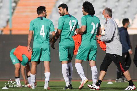 تمرین تیم ملی در حضور رئیس فدراسیون فوتبال (7 فروردین 1400)