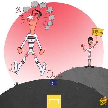 کارتون  رونالدو از دست علی دایی هم عصبانی است!