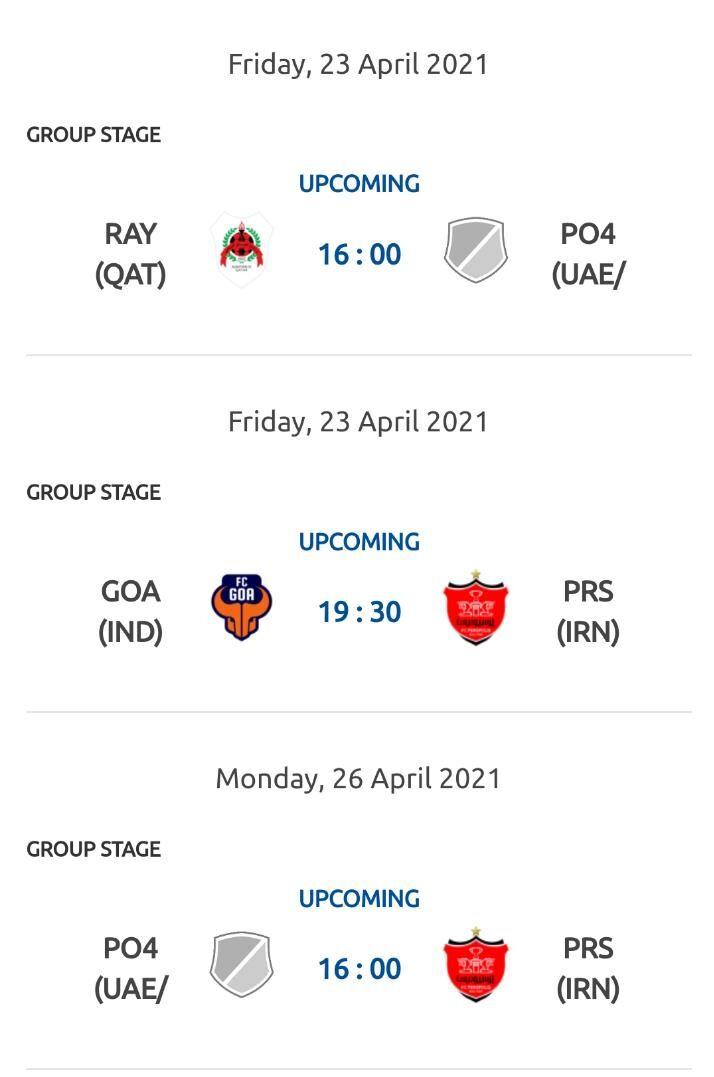 ساعت و برنامه کامل گروه پرسپولیس در لیگ قهرمانان آسیا اعلام شد