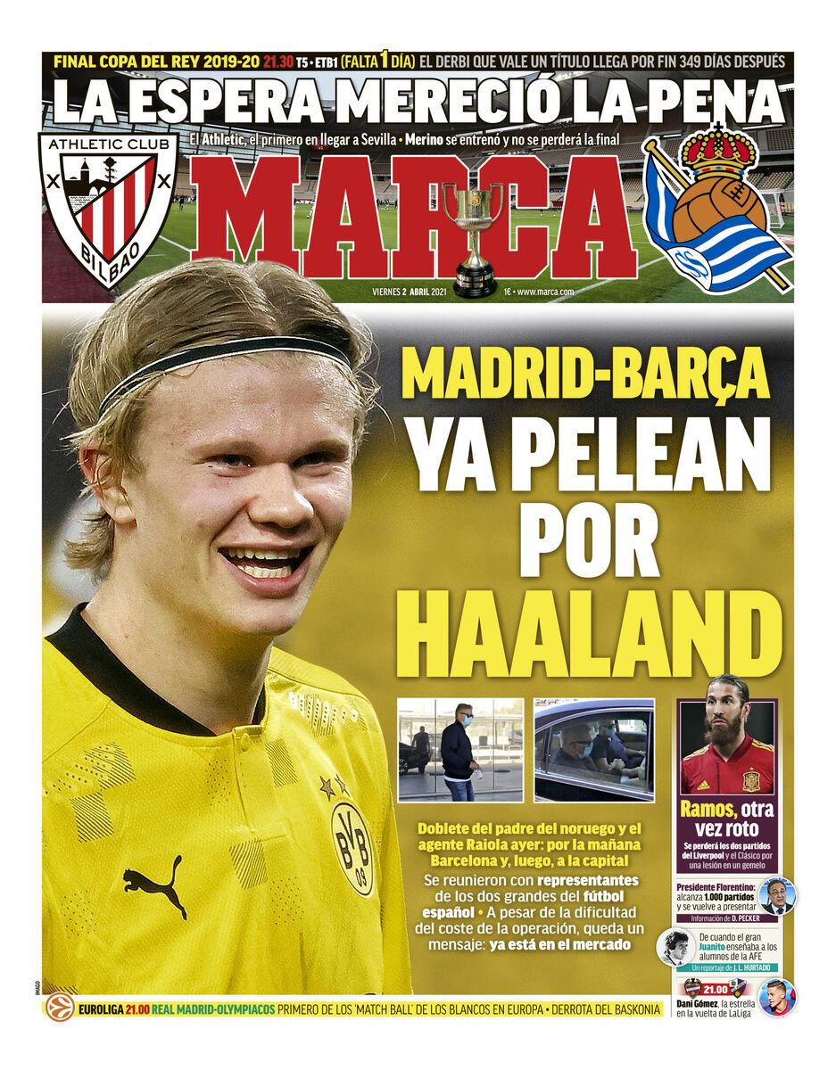 روزنامه مارکا| مادرید و بارسلونا برای هالند مبارزه میکنند