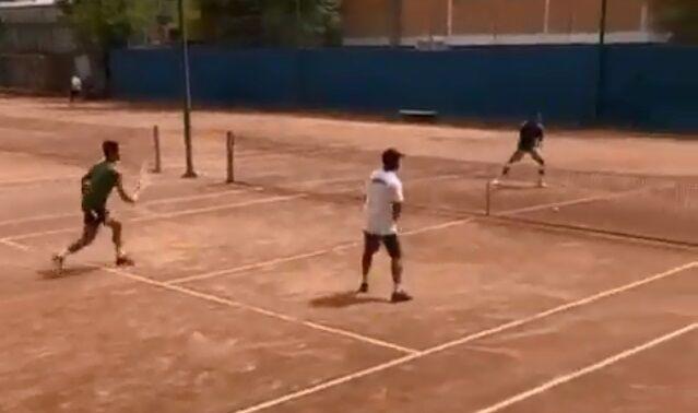 ویدیو| تمرین ملیپوشان تنیس؛ امیر جدیدی هم تمرین کرد