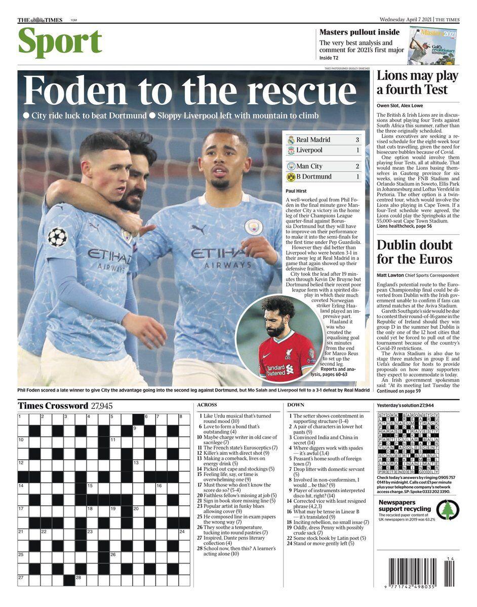 روزنامه تایمز| فودن برای نجات