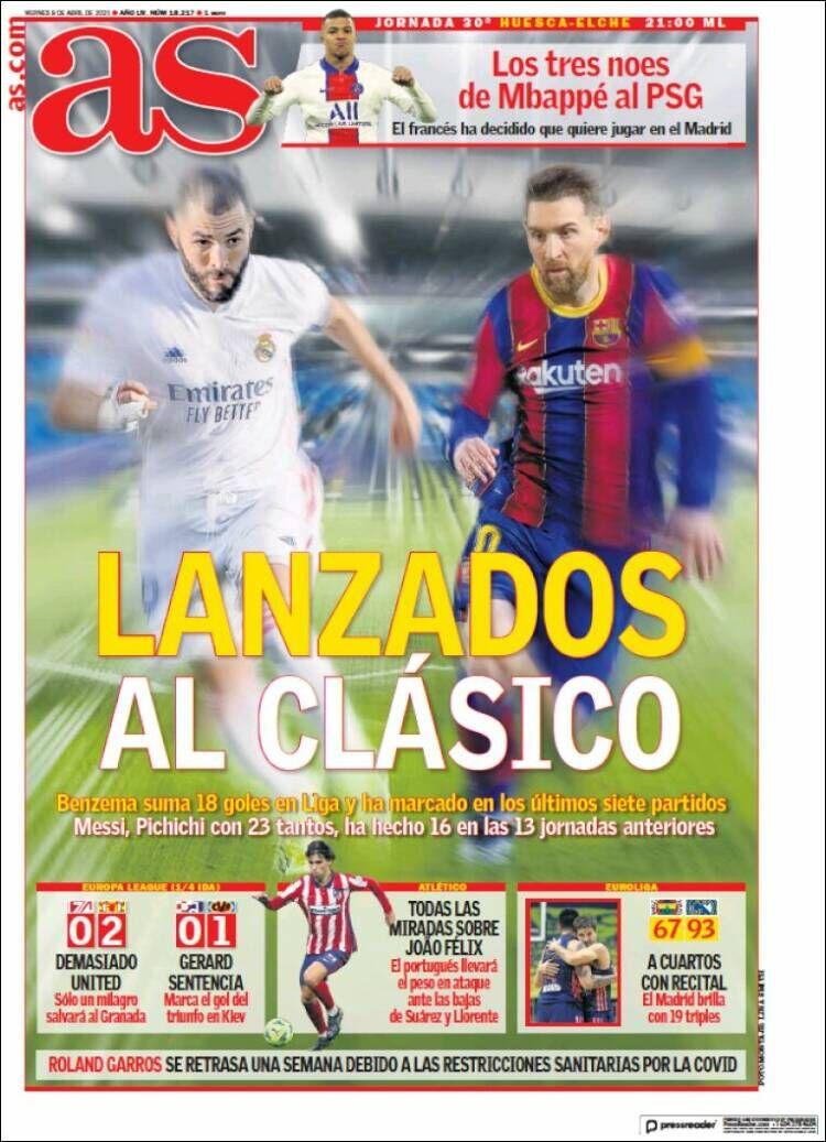 روزنامه آ اس| آماده برای الکلاسیکو