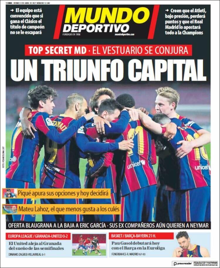 روزنامه موندو| یک پیروزی پایتخت