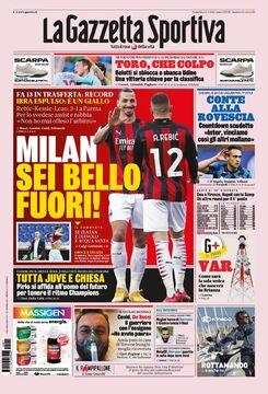روزنامه گاتزتا  میلان، دور شدی!