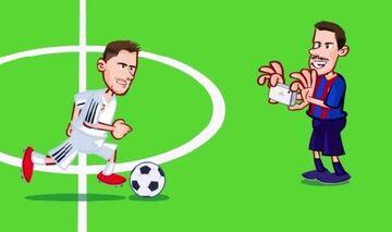 ویدیو| برد رئال مادرید مقابل بارسلونا به روایت کارتون