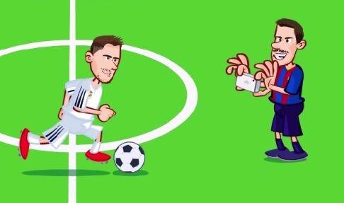 ویدیو  برد رئال مادرید مقابل بارسلونا به روایت کارتون