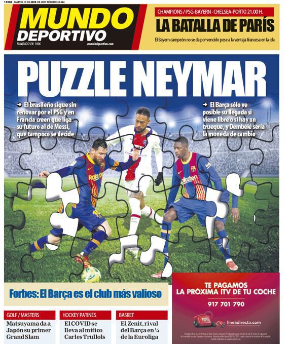 روزنامه موندو  پازل نیمار