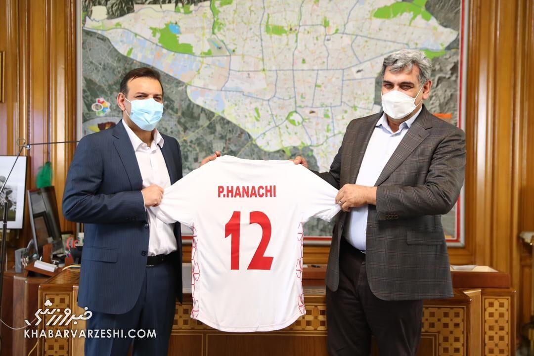 عکس| رئیس فدراسیون فوتبال در دفتر شهردار تهران