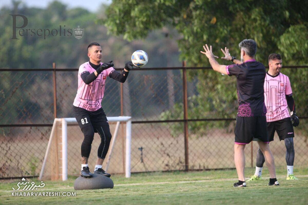 تمرین پرسپولیسیها با تشویق فوتبالدوستان هندی