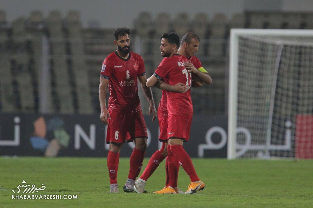جلال حسینی بهترین بازیکن بازی پرسپولیس و الوحده