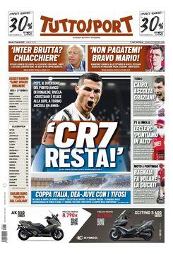 روزنامه توتو  CR7 میماند!
