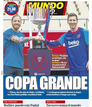 روزنامه موندو  جام بزرگ