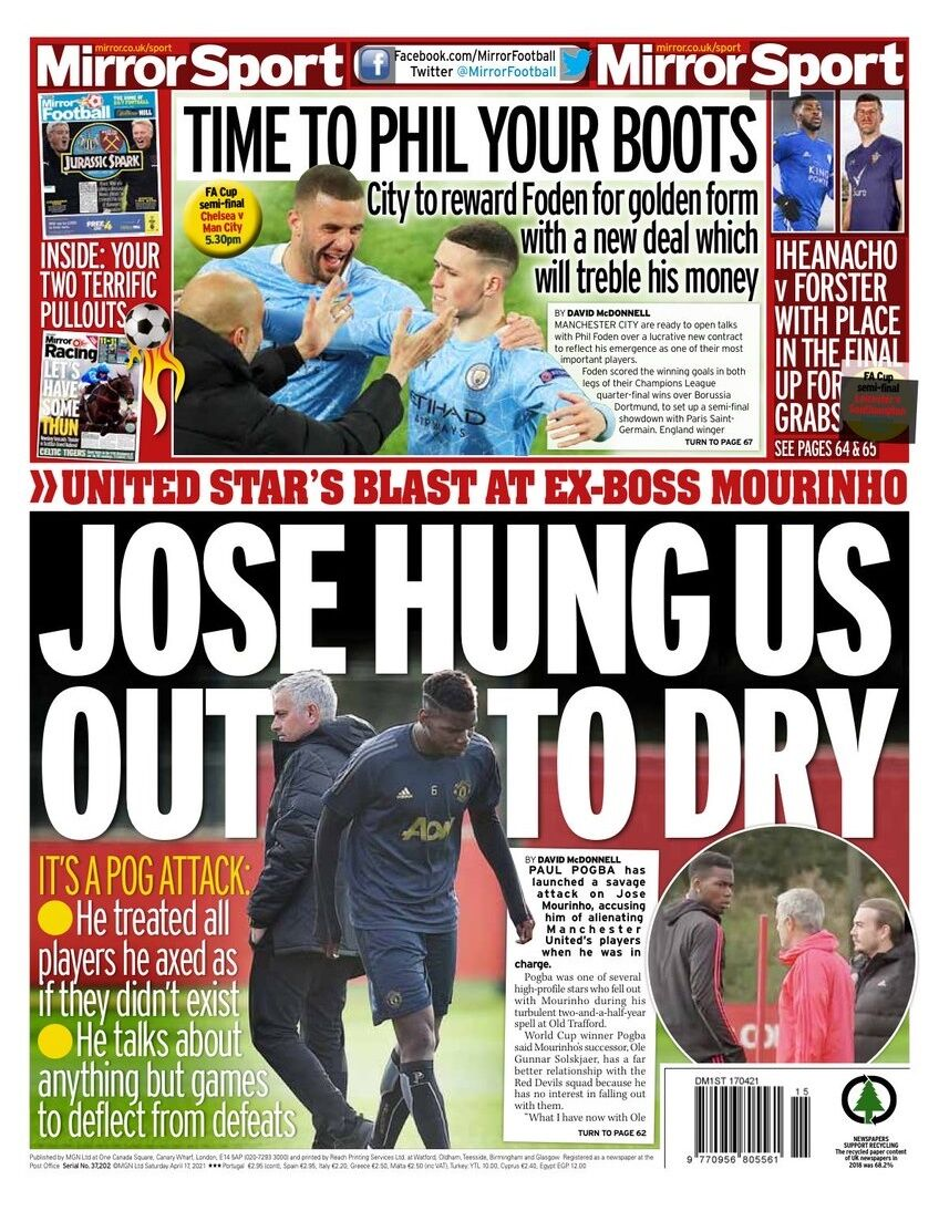 روزنامه میرر  ژوزه ما را آویزان میکرد تا خشک شویم