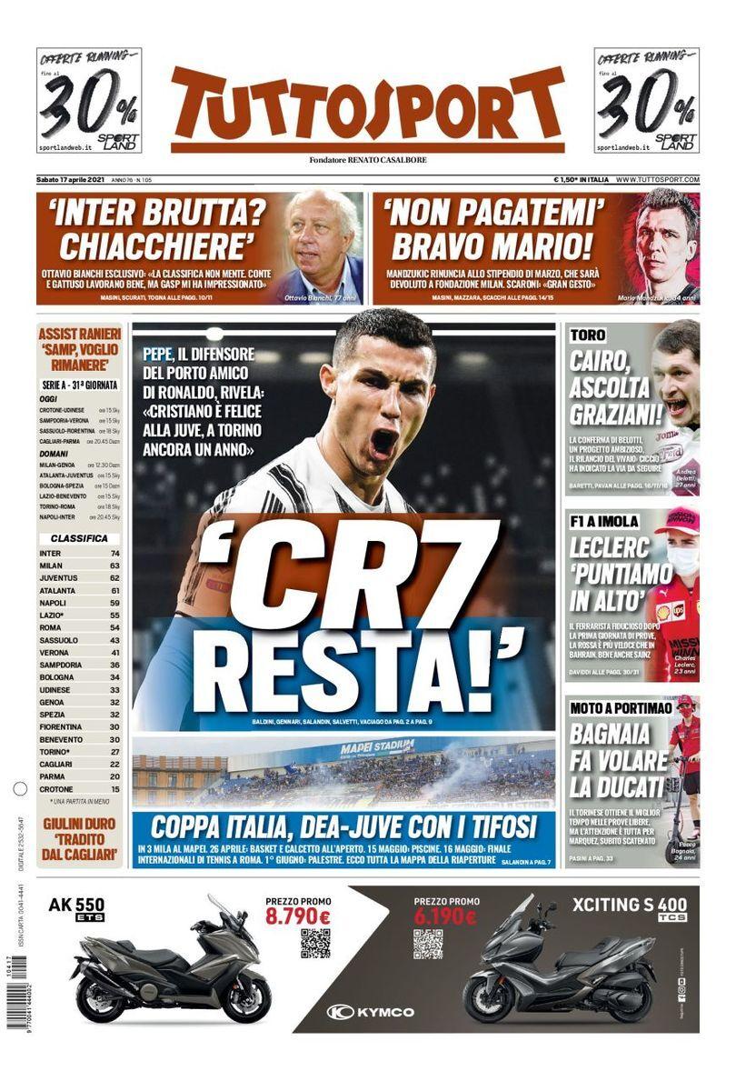 روزنامه توتو| CR7 میماند!