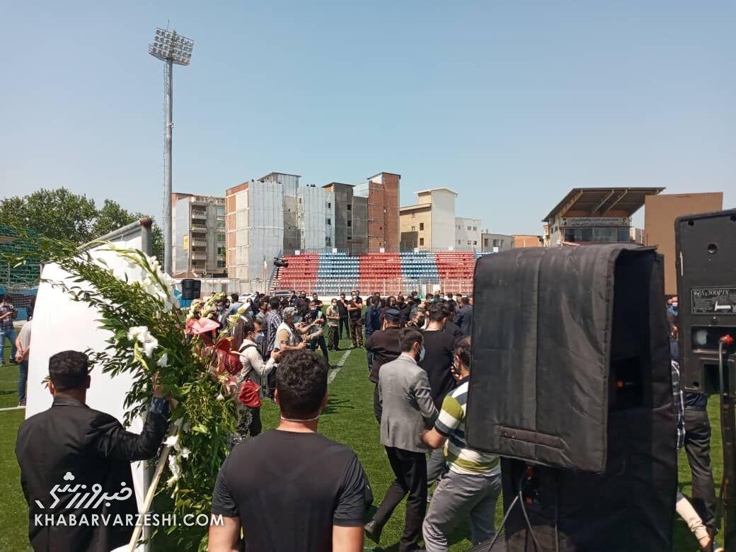 تصاویر| پیکر نادر دستنشان تشییع شد