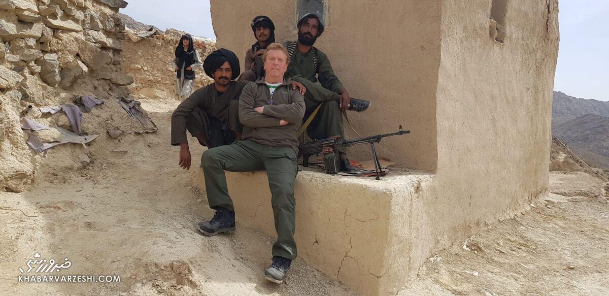 عکس| طالبان پیگیر خبر کدام تیم فوتبال بودند؟