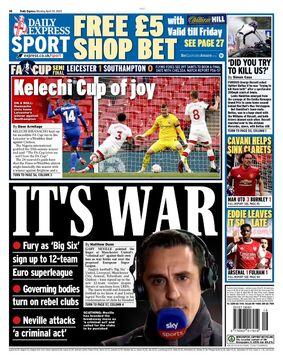 روزنامه اکسپرس| این جنگ است