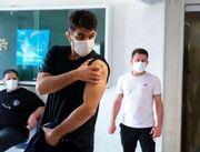 عکس| ترس عجیب حسن یزدانی از واکسن!