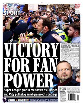 روزنامه اکسپرس| پیروزی برای قدرت هواداران