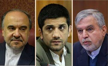 دیدار علیرضا دبیر با سلطانیفر و صالحی امیری در دفتر وزیر ورزش