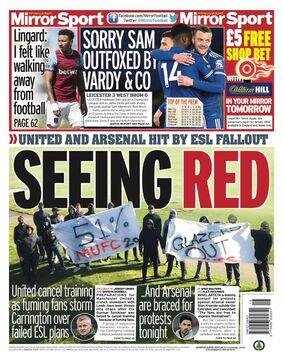 روزنامه میرر| رؤیت قرمز