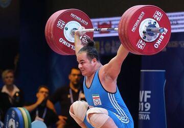طلای دهدار در یکضرب در وزنهبرداری قهرمانی آسیا/ معتمدی برنز گرفت