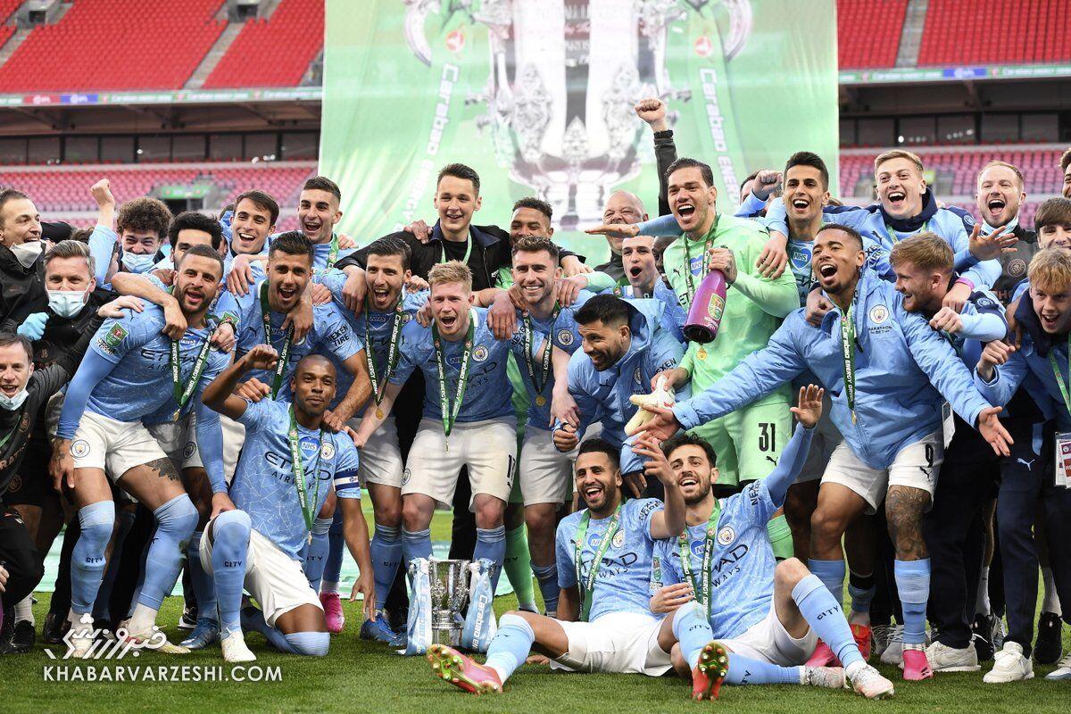 قهرمانی منچسترسیتی در جام اتحادیه 2021