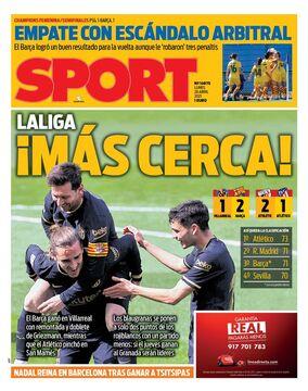 روزنامه اسپورت| لالیگا نزدیکتر میشود