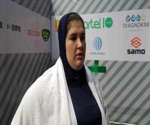 ویدیو  مهار وزنه ۱۲۱ کیلویی توسط فاطمه یوسفی