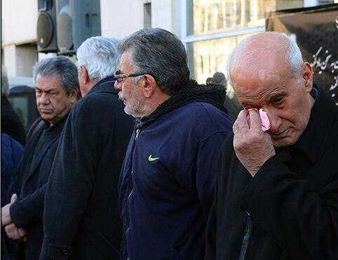 تصویری از اشکهای دردناک حمید جاسمیان برای جعفر کاشانی