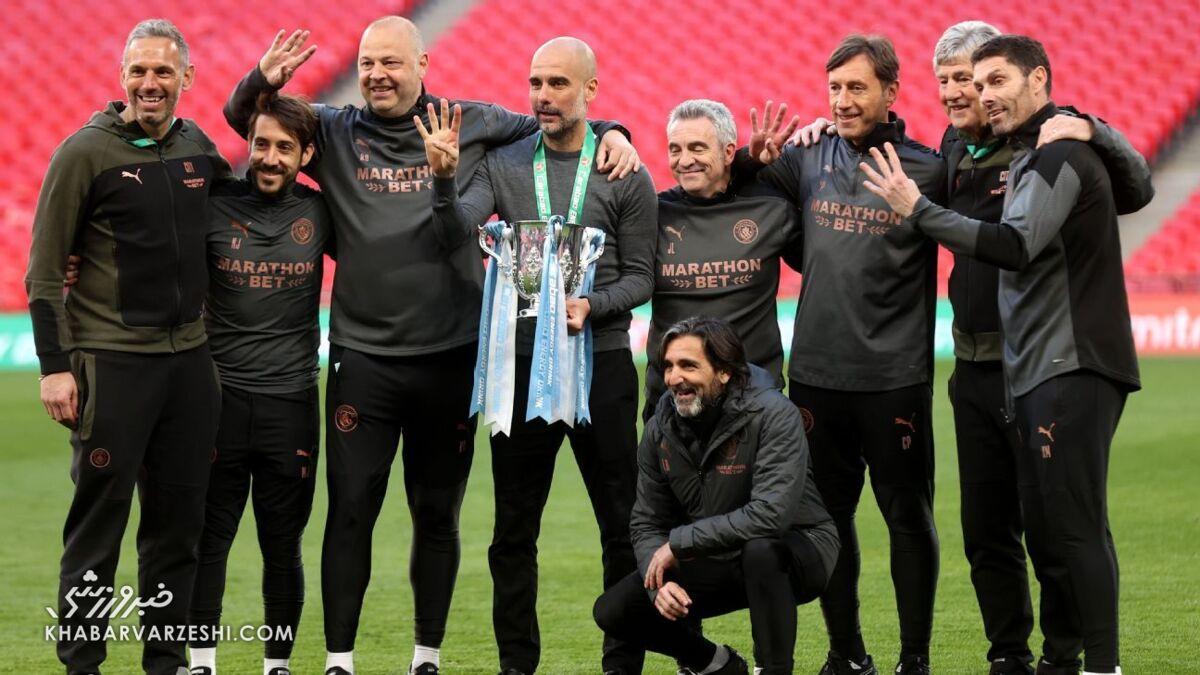 پپ گواردیولا؛ قهرمانی منچسترسیتی در جام اتحادیه انگلیس 2021