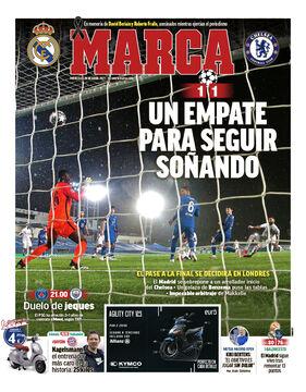روزنامه مارکا| یک تساوی با زنده نگه داشتن رؤیاها