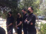عکس| چهرههای سرشناس در مراسم خاکسپاری پدر محسن مسلمان