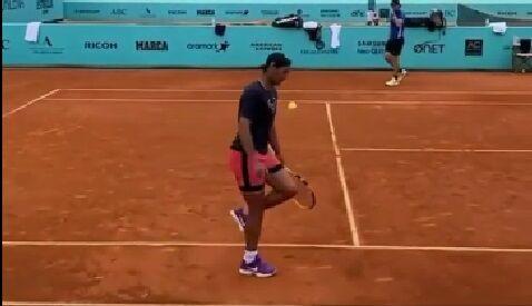ویدیو| حرکت تکنیکی تماشایی رافائل نادال با توپ تنیس!