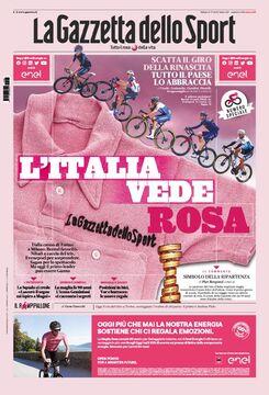 روزنامه گاتزتا| ایتالیا، صورتی میبیند