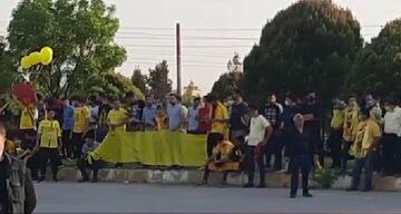 ویدیو| تجمع هواداران سپاهان مقابل ورودی ورزشگاه نقشجهان