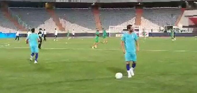 ویدیو| گرم کردن بازیکنان استقلال پیش از آغاز بازی