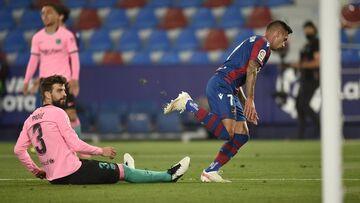 ویدیو| خلاصه بازی لوانته ۳-۳ بارسلونا