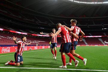 اتلتیکومادرید ۲ - رئالسوسیداد یک/ قهرمانی در مشت الچولو