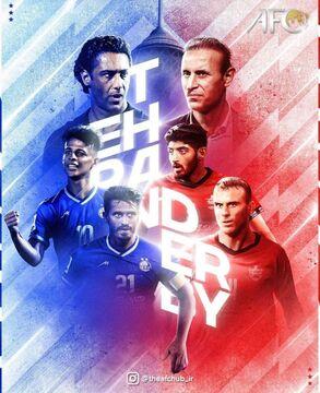 عکس| رونمایی از پوستر AFC برای دربی