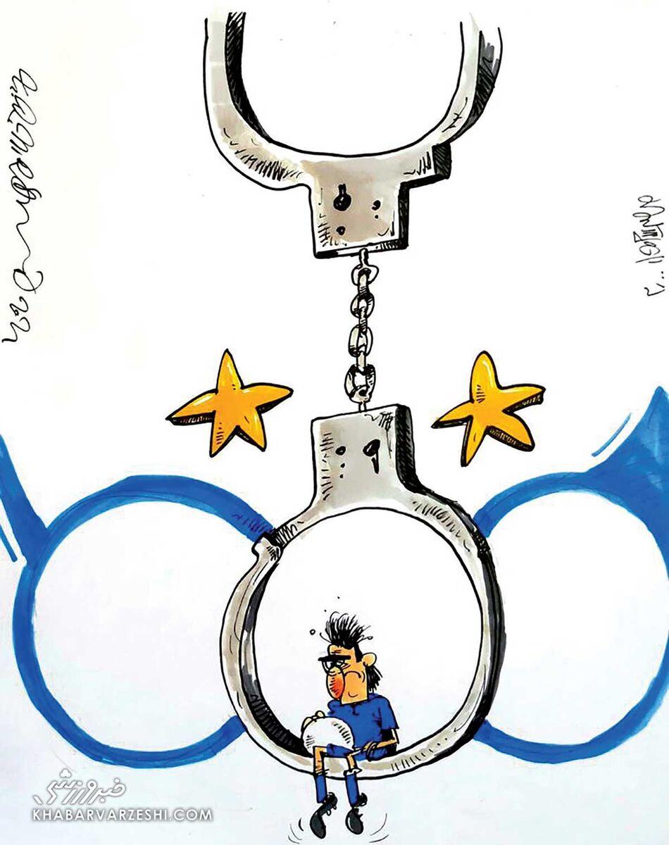 کارتون محمدرضا میرشاهولد درباره دستگیری خلیلزاده