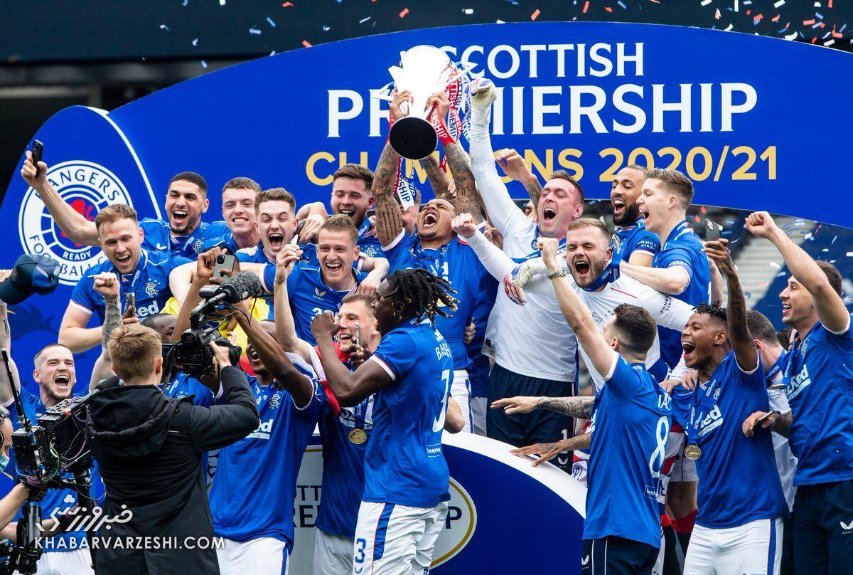 قهرمانی رنجرز در لیگ برتر اسکاتلند