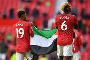 عکس  دو بازیکن منچستریونایتد به یاد مردم مظلوم فلسطین
