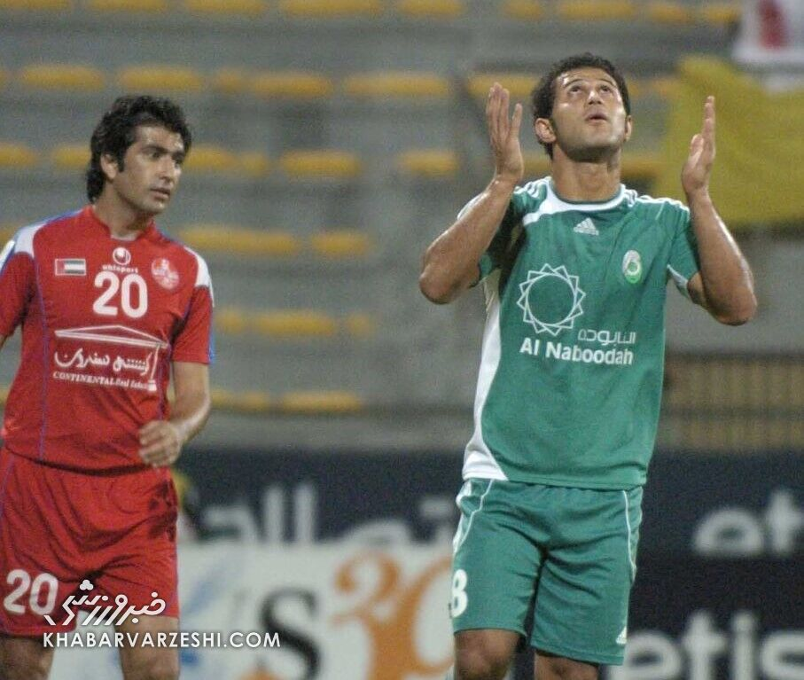 تصویری خاطرهانگیز از زندهیاد مهرداد اولادی در لیگ امارات