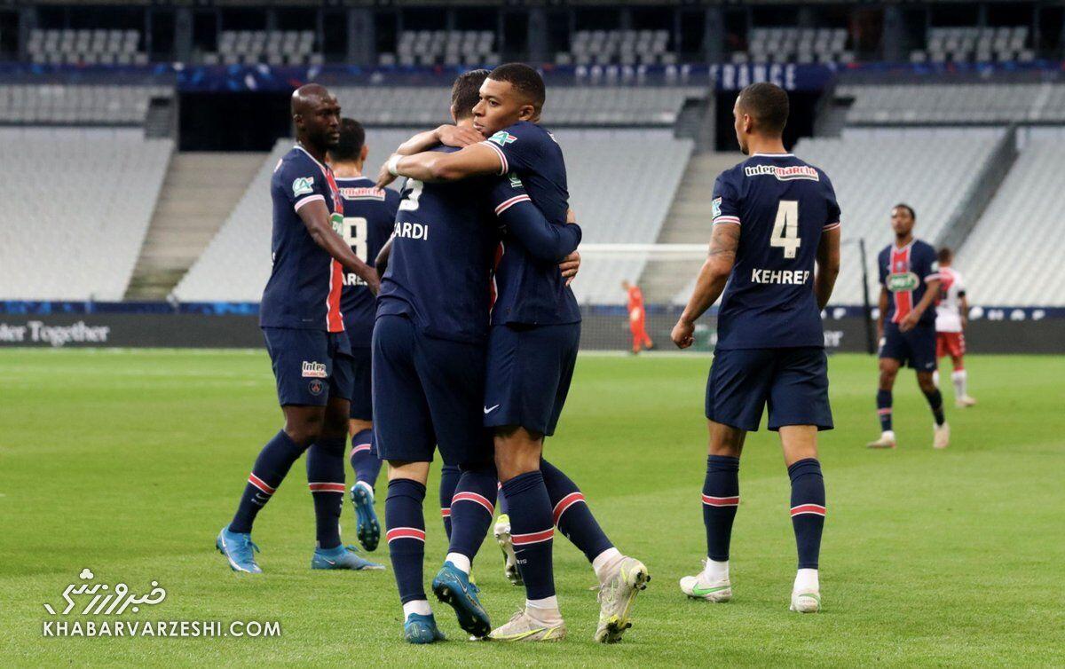 موناکو صفر - پاریسنژرمن یک/ پاریسیها اولین جام را بردند