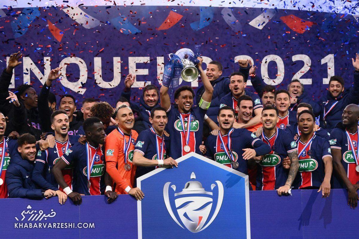 پاریسنژرمن؛ قهرمان جام حذفی فرانسه 2021-2020