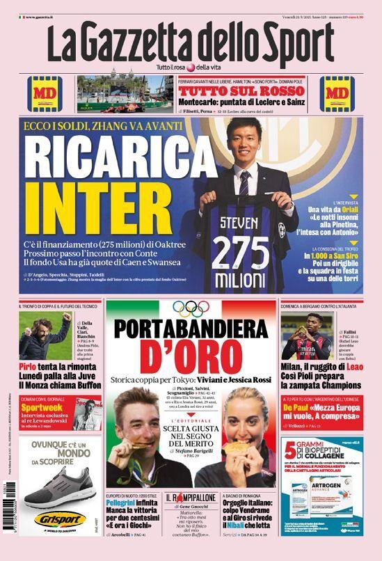 روزنامه گاتزتا| شارژ دوباره اینتر